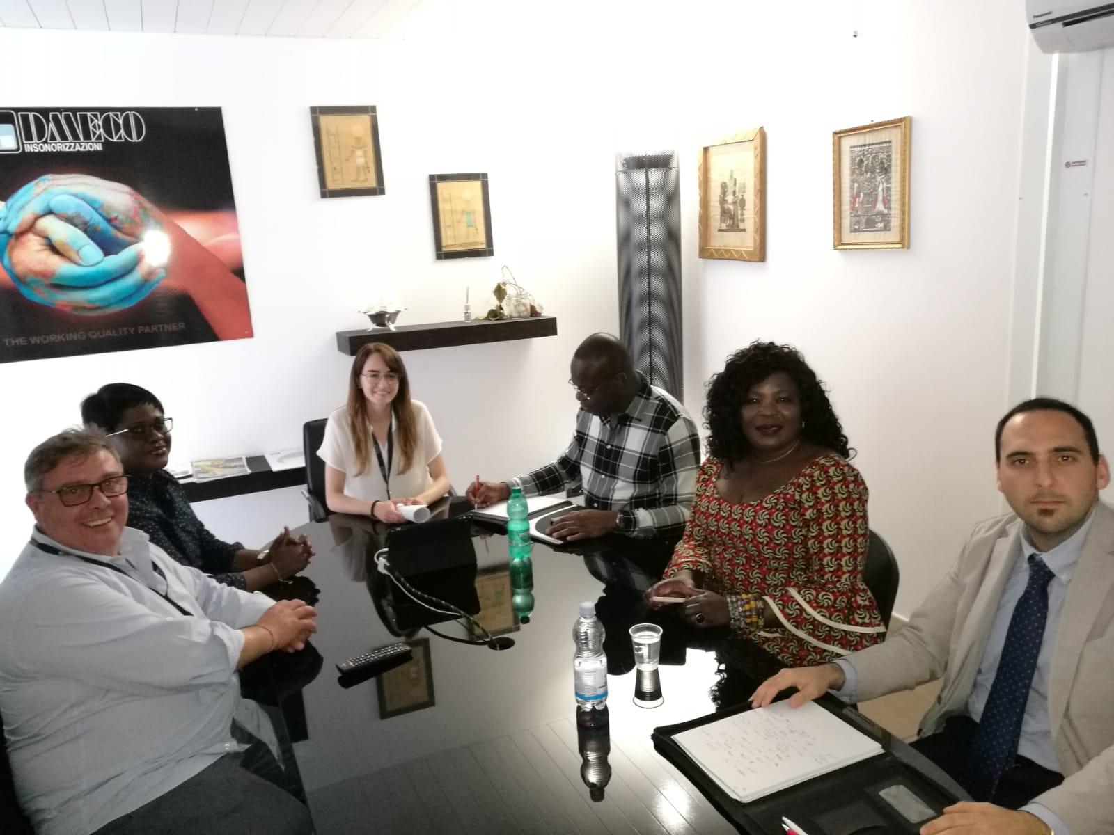 Visita dell'Ambasciata del Ghana presso l'azienda DMECO