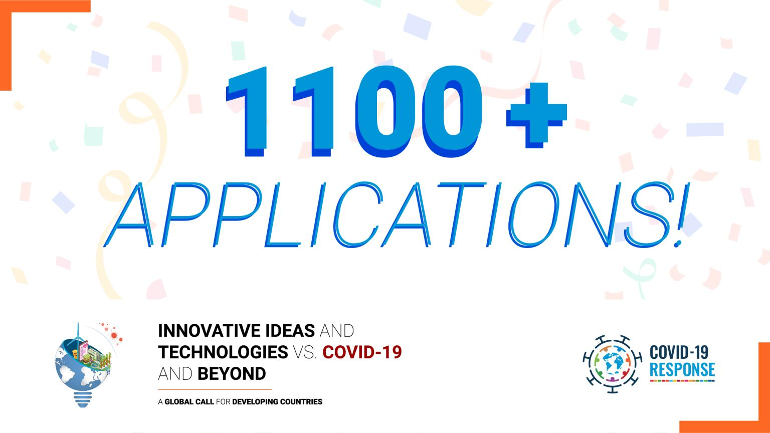 "Over 1,100 applications submitted to the UNIDO Global Call ""Innovative Ideas and Technologies vs. COVID-19 and beyond"""