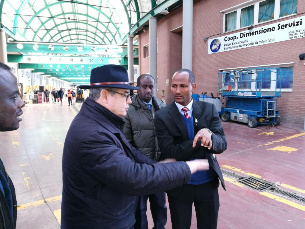 L'Ambasciata d'Etiopia visita il Centro Agroalimentare Romano