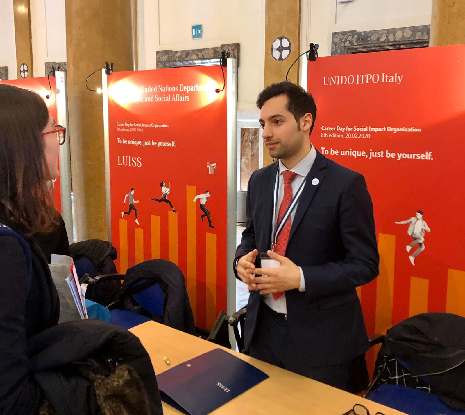 UNIDO ITPO Italy participated in the 8th of LUISS Career Day for Social impact Organization