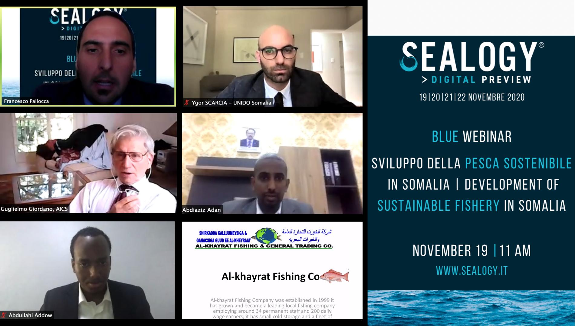 UNIDO promuove il settore ittico in Somalia alla Sealogy Digital Preview