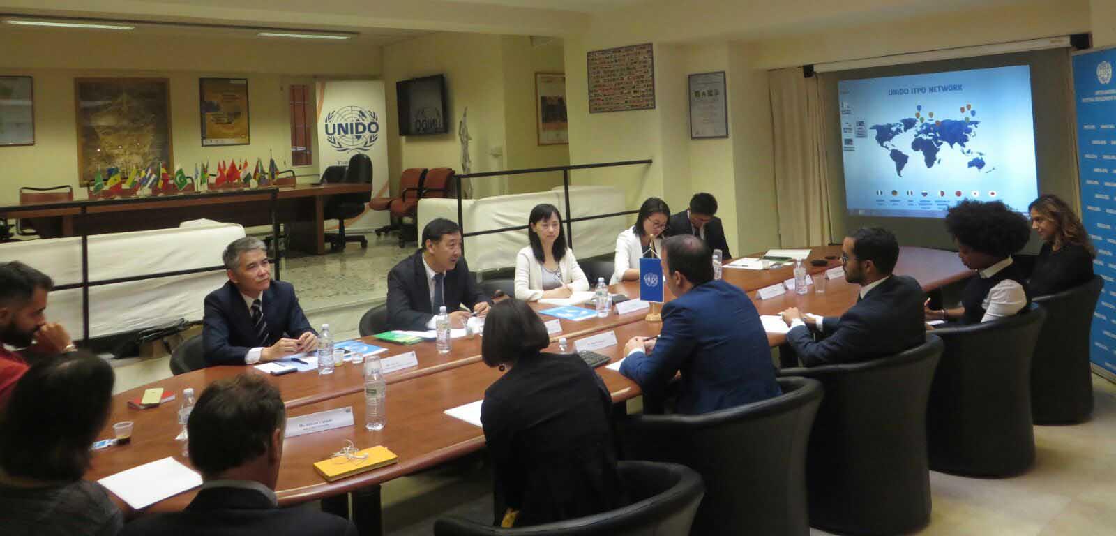UNIDO ITPO Italy ospita una Delegazione dalla Repubblica Popolare Cinese