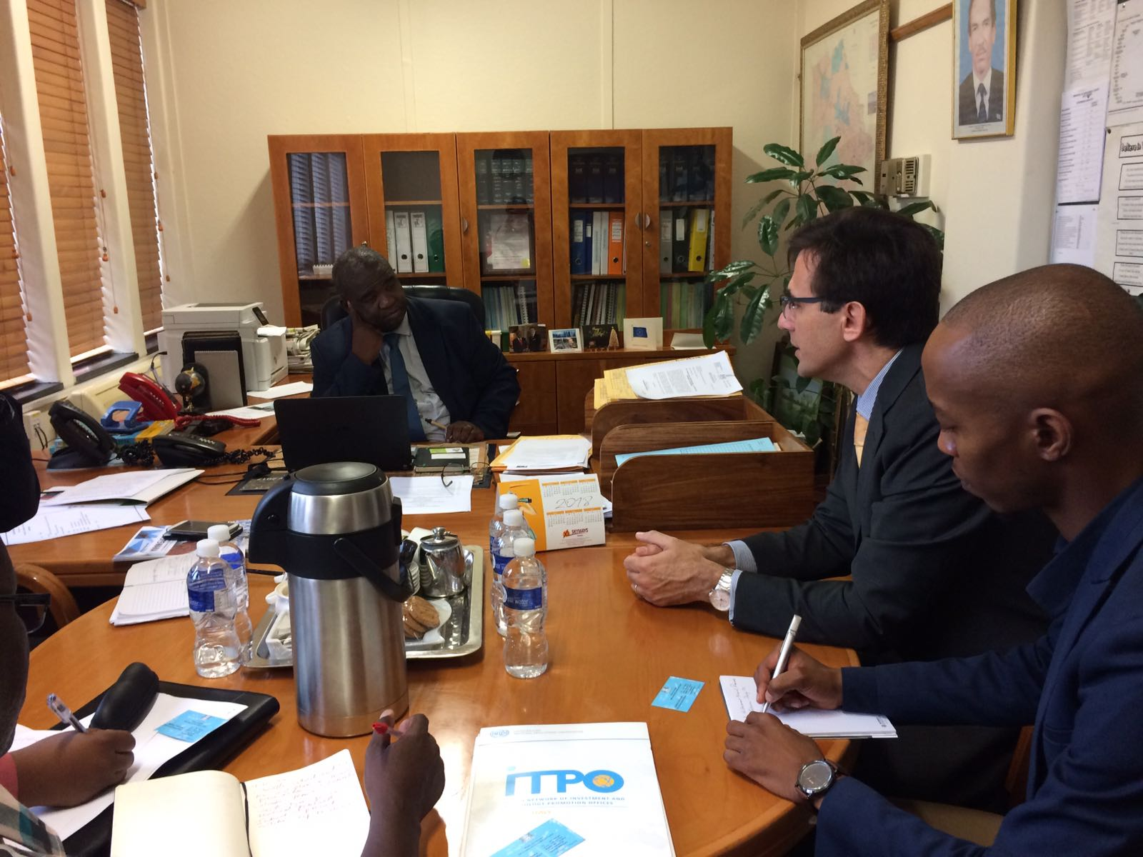Briefing about UNIDO ITPO Italy renewable energy project to the Botswana Ministries