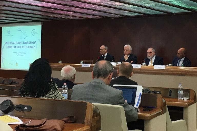 UNIDO ITPO Italy al Workshop Internazionale sull'Efficienza delle Risorse