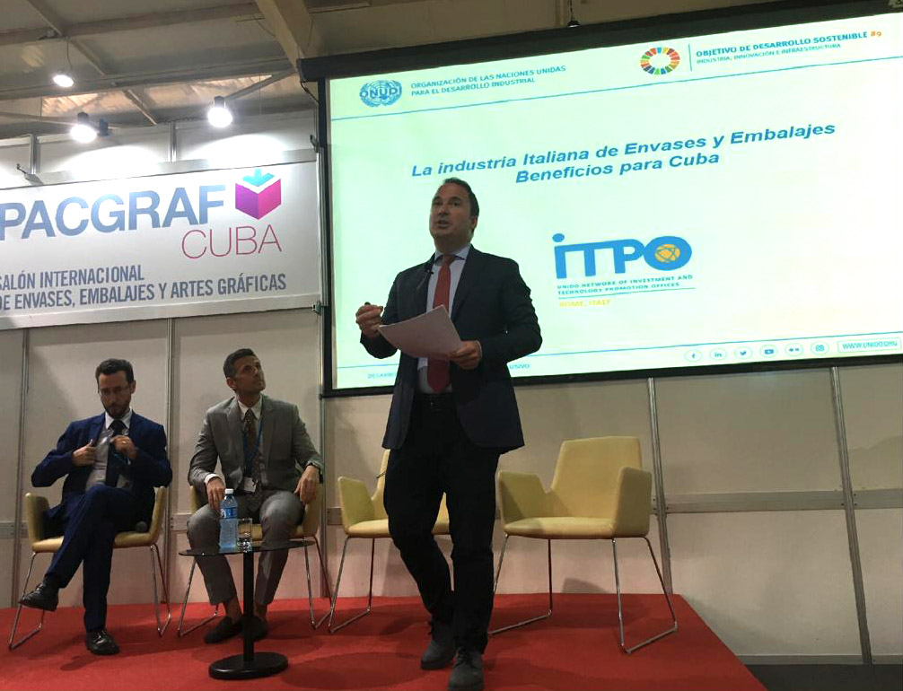 UNIDO ITPO Italy at Packfair 2019 and IV WEIC in Cuba