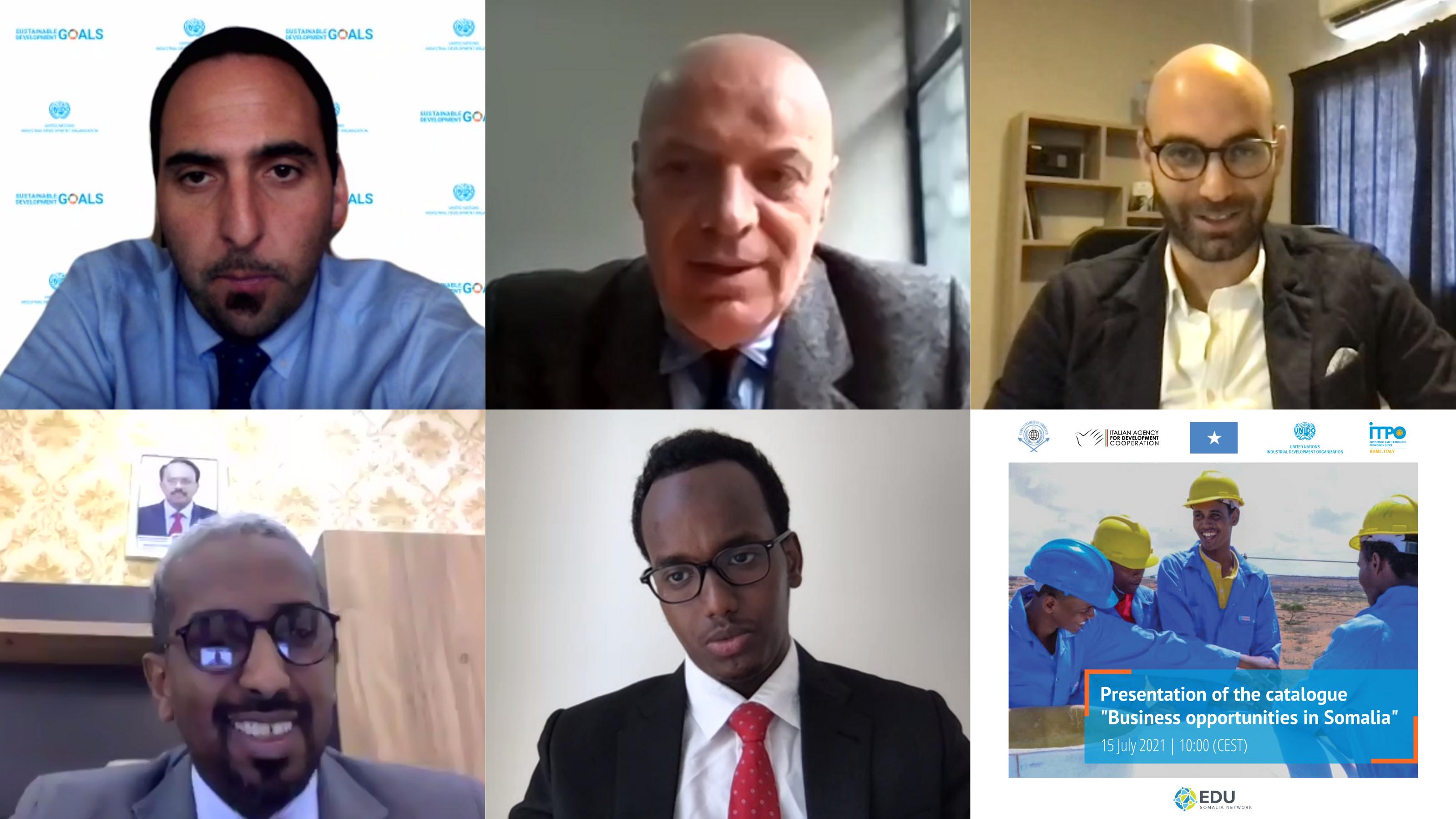 """Presentazione del catalogo """"Business opportunities in Somalia"""""""