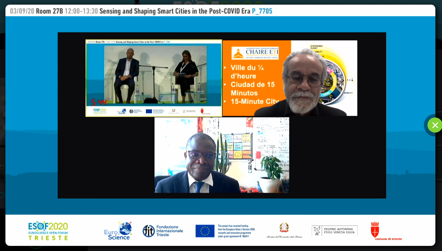 UNIDO ITPO Italy organized a conference on Smart Cities at ESOF2020
