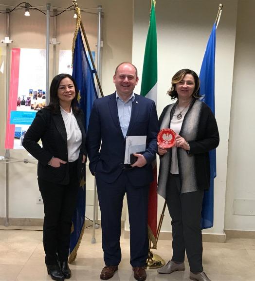 Il Vice presidente dell'Agenzia Polacca per il Commercio e gli Investimenti visita UNIDO ITPO Italia