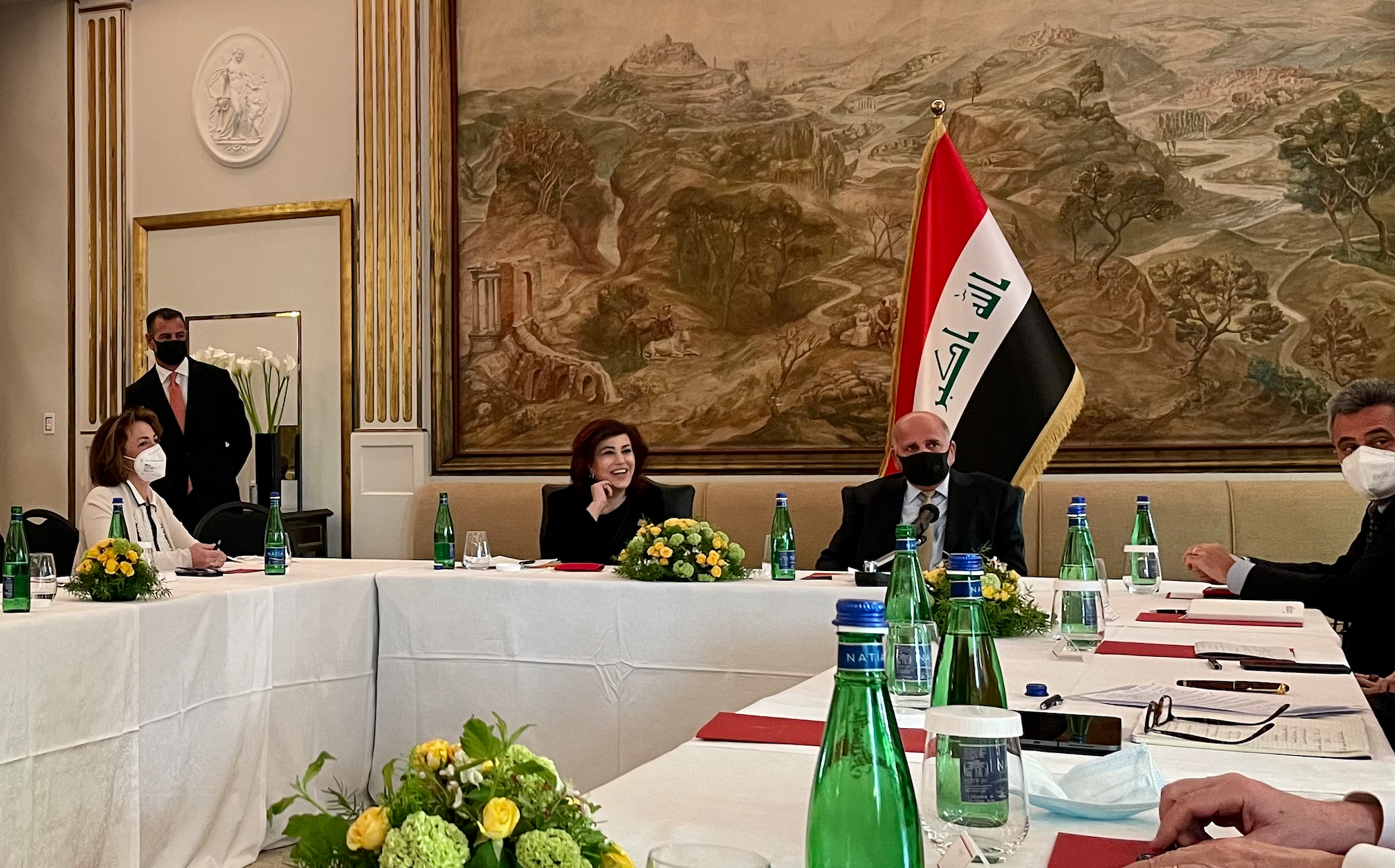 UNIDO ITPO Italy meets with Iraqi Deputy Prime Minister and Minister of Foreign Affairs Fuad Hussein