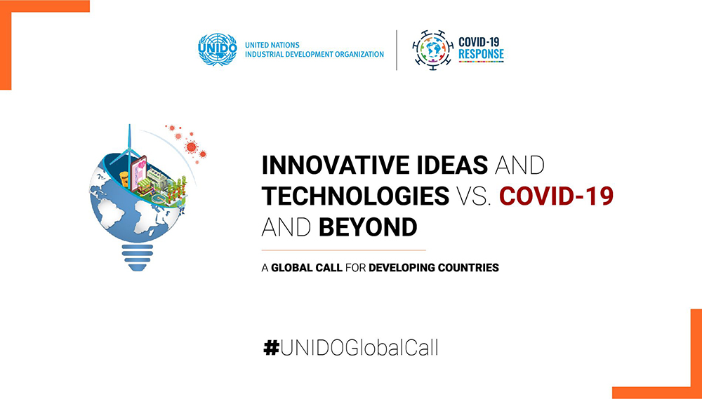 "Aperte le candidature alla Global Call di UNIDO  ""Idee e Tecnologie innovative vs. COVID-19 e oltre"""