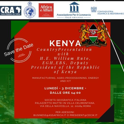 Incontro col Vice Presidente del Kenya