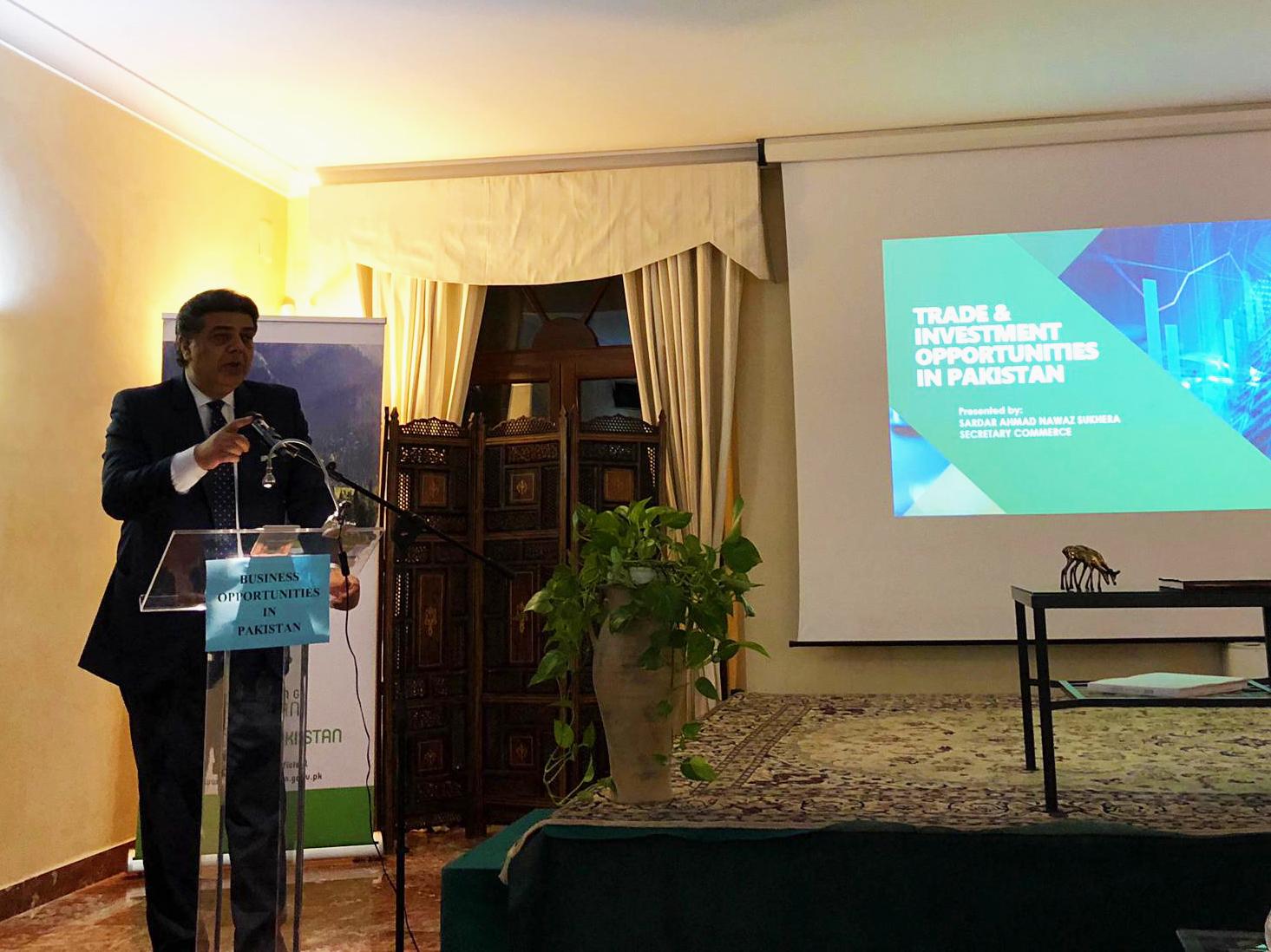 Seminario sulle opportunità di investimento in Pakistan