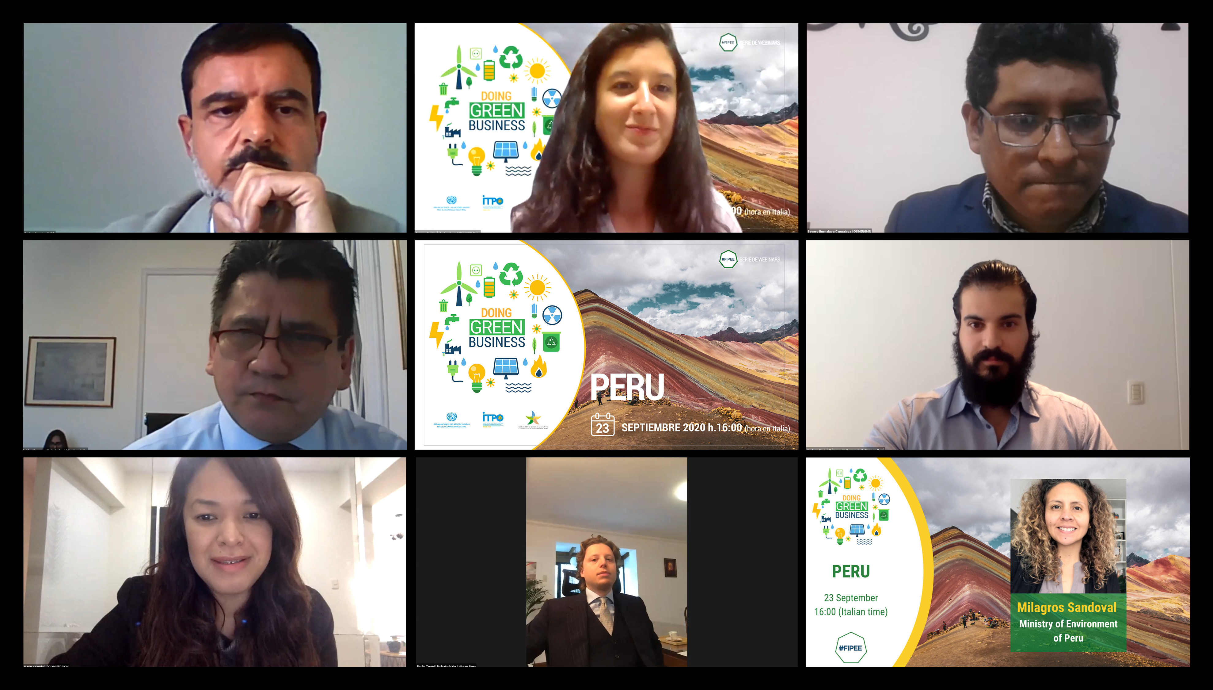 """Doing Green Business in Peru"": First Episode of UNIDO ITPO Italy's Webinar Series"