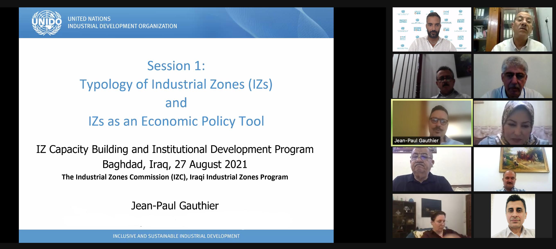 IPI: al via il programma di training per le zone industriali in Iraq