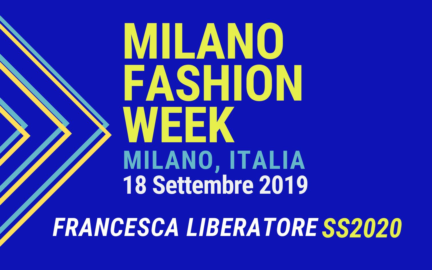 MILANO FASHION WEEK 2019: UNIDO ITPO Italy partecipa alla sfilata 'unconventional' di Francesca Liberatore