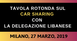 Lebanese Center for Energy and Conservatio (LCEC) incontra gli stakeholders italiani del car sharing