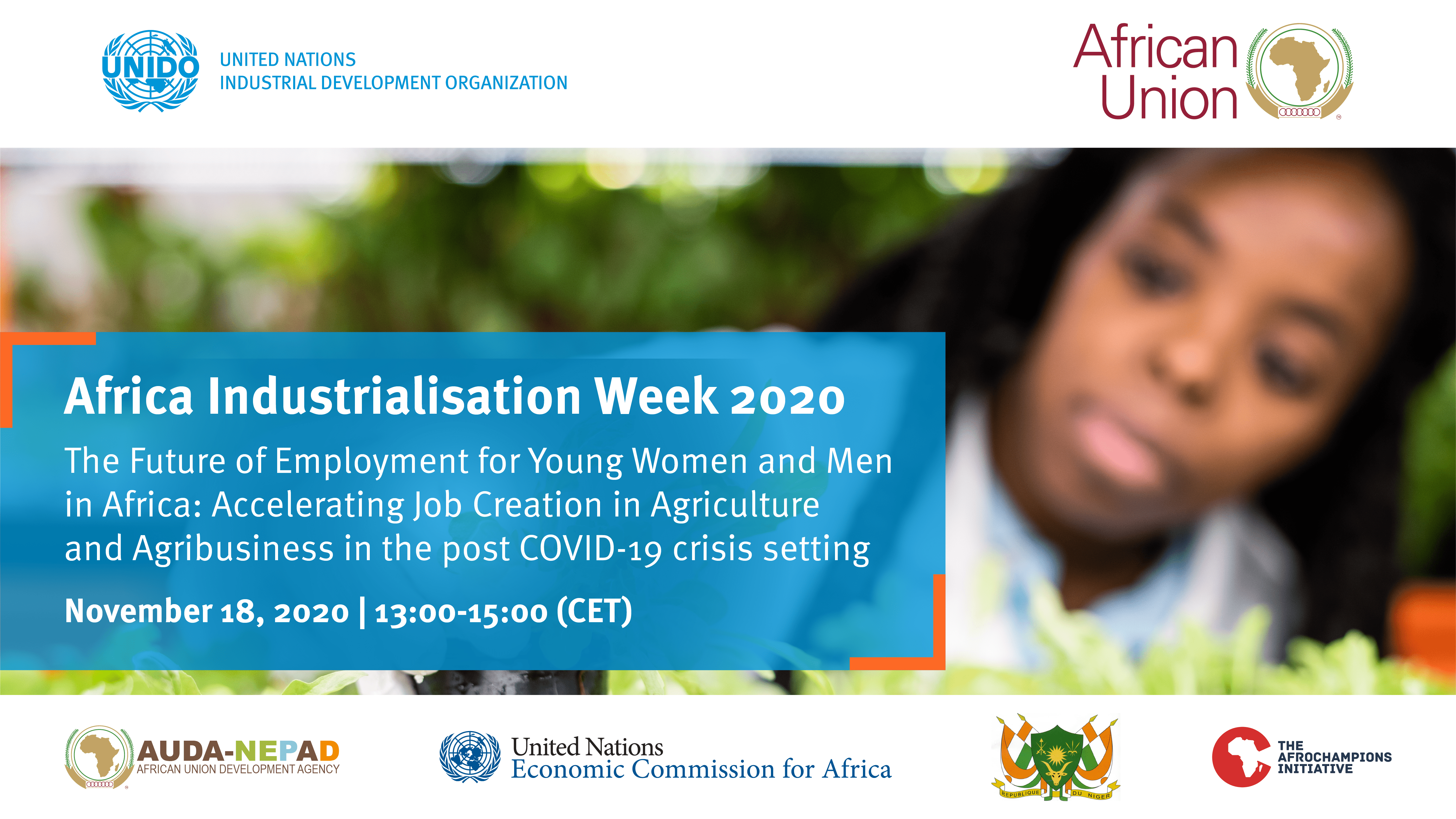 AIW2020 - The Future of Employment for Young Women and Men in Africa: Accelerating Job Creation in Agriculture and Agribusiness in the post COVID-19 crisis setting