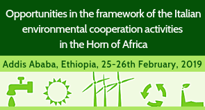 Opportunities in the framework of the Italian environmental cooperation activities in the Horn of Africa