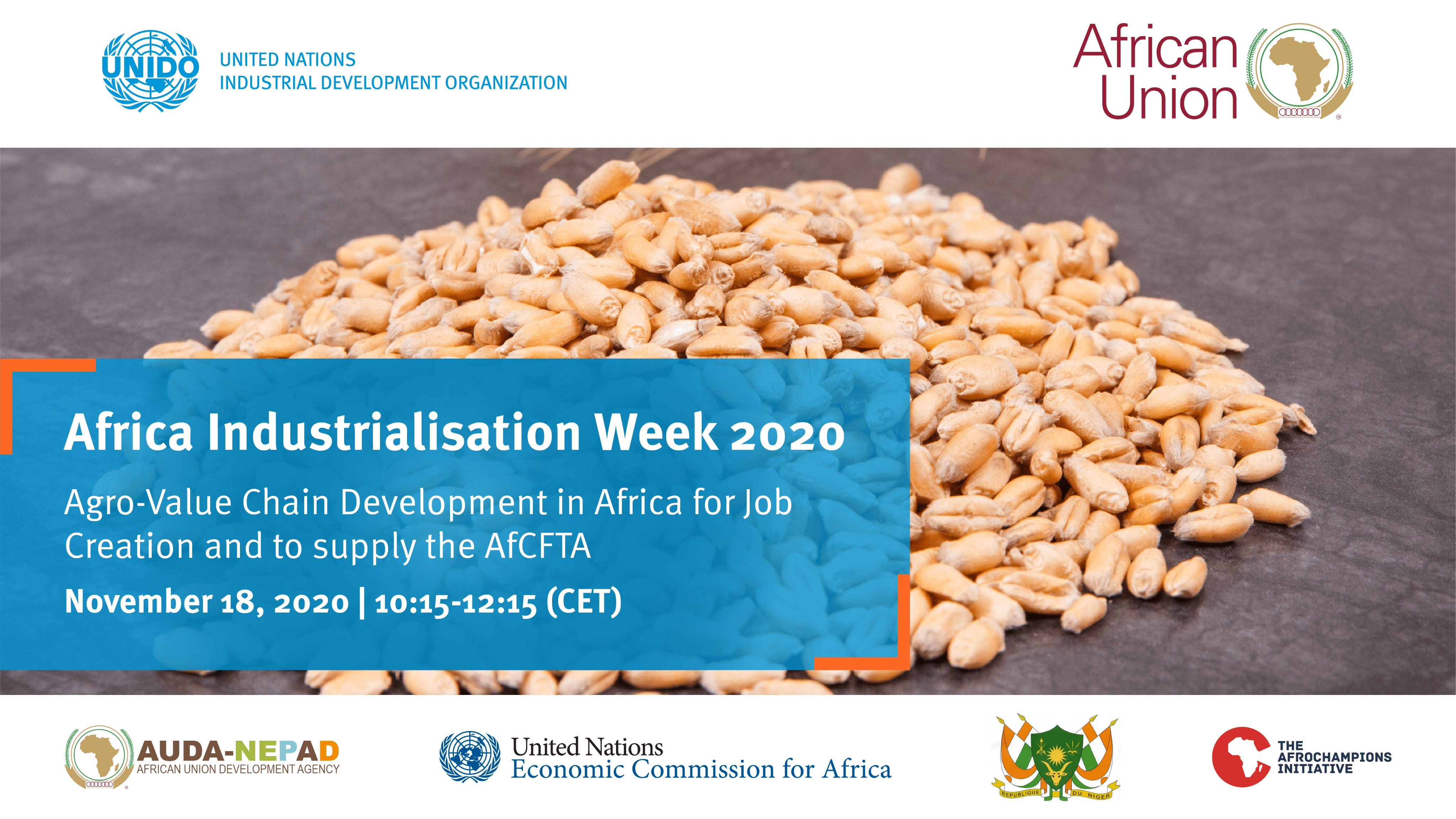 AIW2020 - AgroValue chain development in Africa for job creation and to supply the AfCFTA
