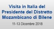 Visita in Italia del Presidente del distretto mozambicano Bilene