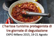 EXPO Milano: l' harissa tunisina protagonista di tre giornate di degustazione