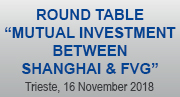 """Round Table """"Mutual investment between Shanghai & FVG"""""""